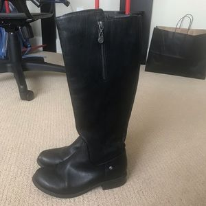 GUESS black knee length boots